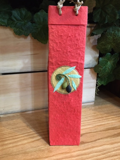 1 Bottle Paper Olive Oil Gift Bag