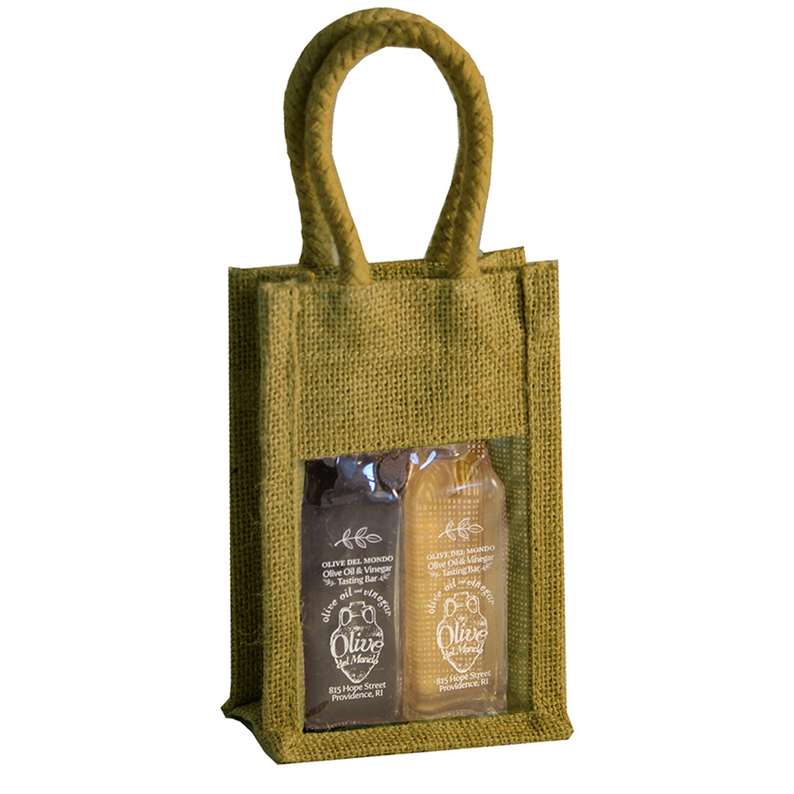 60 ml Bottle Canvas Olive Oil Gift Bag (fits 2 60 ml)