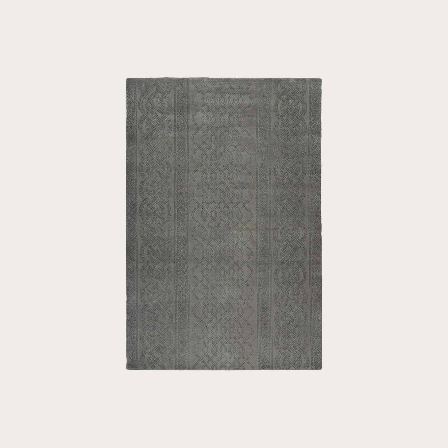 Cable Knit Grey Floor Coverings Thom Browne Designer Furniture Sku: 391-150-11255