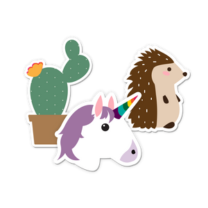 Brooklyn & Bailey Animal Stickers Set