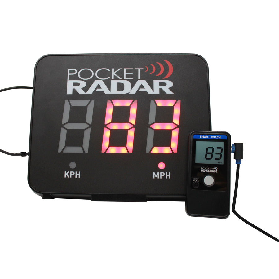 Pocket Radar More Sports Digital Speedometer Smart Coach And Display Bundle