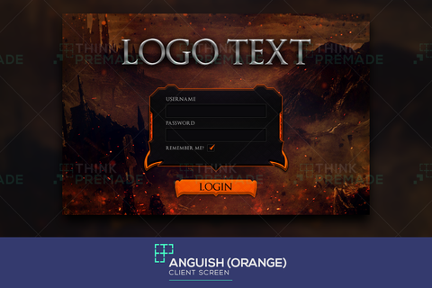 Anguish - Client Login Screen - Stream Graphics - ThinkPremade