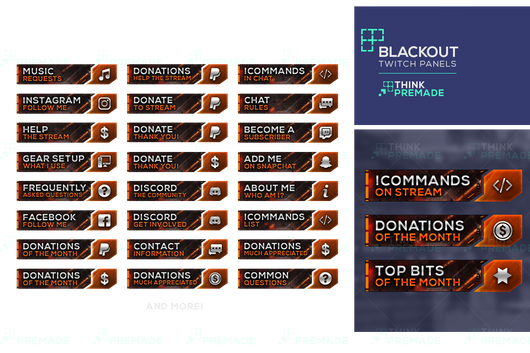 Blackout Panels - Twitch Panels - Stream Graphics - ThinkPremade