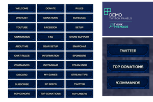 Demo Panels - Twitch Panels - Stream Graphics - ThinkPremade
