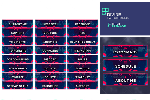 Divine Panels - Twitch Panels - Stream Graphics - ThinkPremade