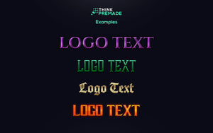 Logo Text Styles - Client Login Screen - Stream Graphics - ThinkPremade