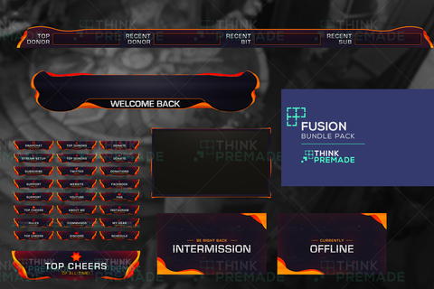 Fusion Bundle Pack - Twitch Bundles - Stream Graphics - ThinkPremade