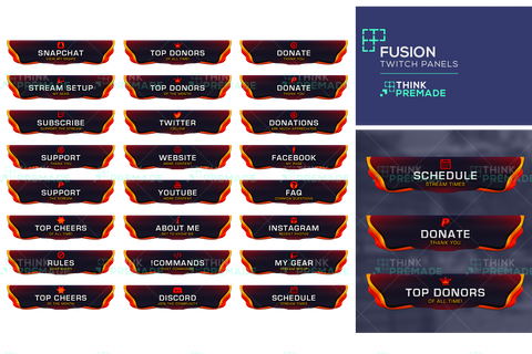 Fusion Panels - Twitch Panels - Stream Graphics - ThinkPremade
