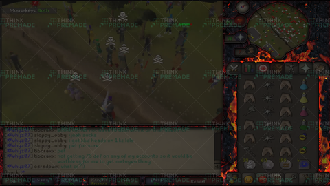 Old School RuneScape Twitch Overlay - Inferno