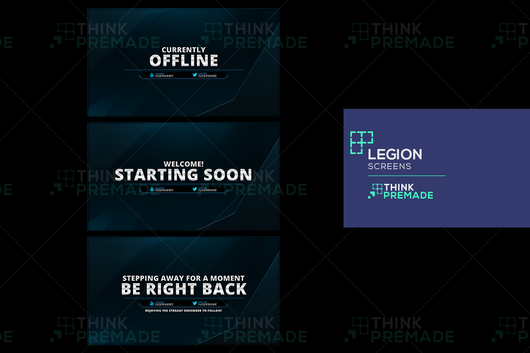 Legion Screens - Twitch Screens - Stream Graphics - ThinkPremade