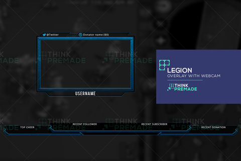 Legion Twitch Overlay with Webcam