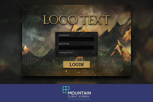 Mountain - Client Login Screen - Stream Graphics - ThinkPremade
