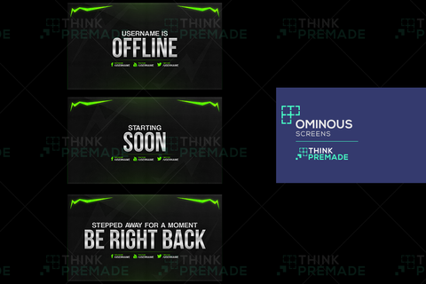 Ominous Pack Twitch Streamer Screen Background
