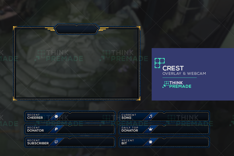Crest Overlay - Twitch Overlay - Stream Graphics - ThinkPremade