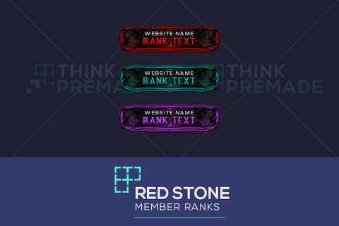 Red Stone Userbars - Client Login Screen - Stream Graphics - ThinkPremade
