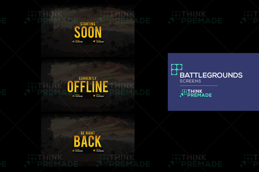 Battlegrounds Screens - ThinkPremade