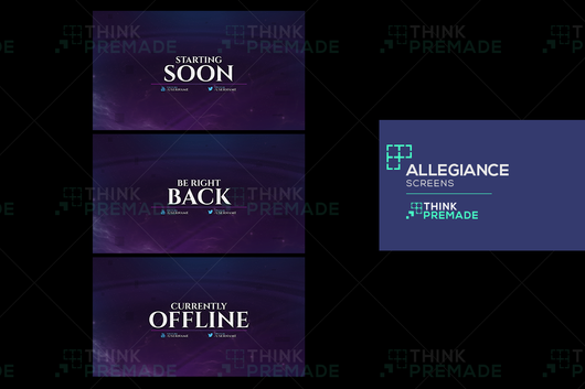 Allegiance Screens - Twitch Screens - Stream Graphics - ThinkPremade