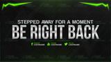 Be Right Back Twitch Streamer Screen Background