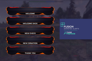 Fusion Alerts - Alerts - Stream Graphics - ThinkPremade