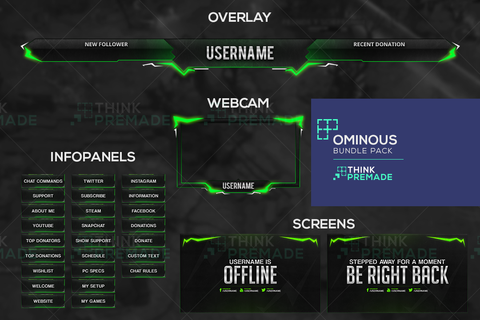 Ominous Bundle Pack - Twitch Bundles - Stream Graphics - ThinkPremade
