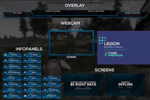 Twitch Overlay Complete template package