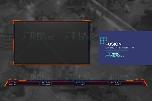 Fusion Overlay - Twitch Overlay - Stream Graphics - ThinkPremade