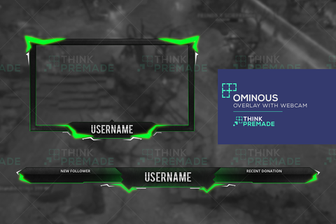Ominous Overlay - Twitch Overlay - Stream Graphics - ThinkPremade