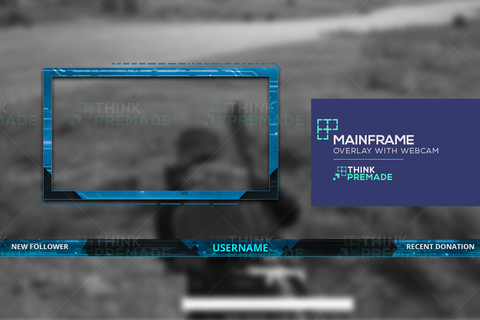Mainframe Overlay - Twitch Overlay - Stream Graphics - ThinkPremade