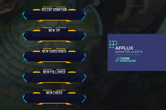 Afflux Alerts - Alerts - Stream Graphics - ThinkPremade