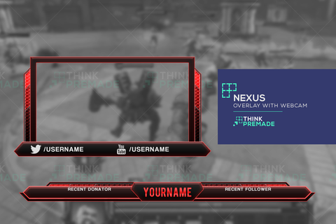 Twitch Overlay and Webcam Nexus red