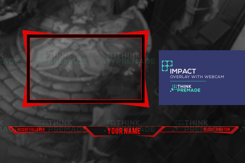 Impact Overlay - Twitch Overlay - Stream Graphics - ThinkPremade