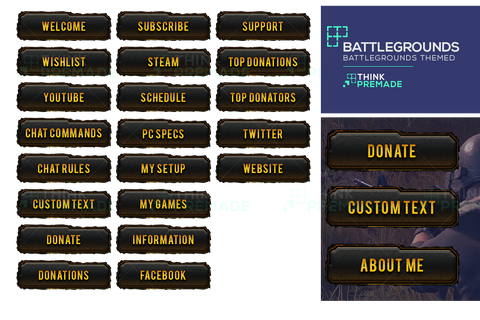 Battlegrounds themed Twitch Panels