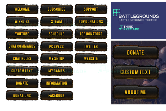 98 Playerunknown S Battlegrounds Png Images Free Download: Battlegrounds Twitch Overlay