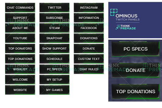 Ominous Panels - Twitch Panels - Stream Graphics - ThinkPremade
