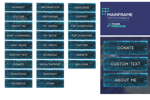 Mainframe Panels - ThinkPremade