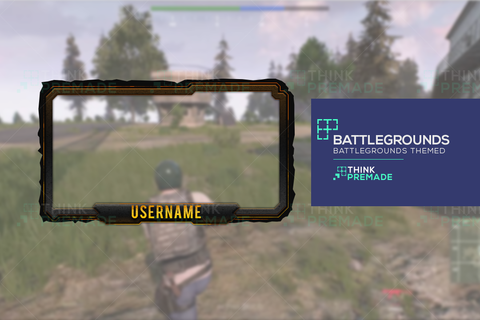 Battlegrounds Webcam - Webcam Overlay - Stream Graphics - ThinkPremade