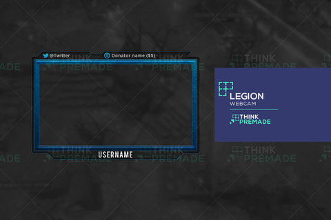 Legion Webcam - Webcam Overlay - Stream Graphics - ThinkPremade
