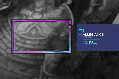 Allegiance Webcam - Webcam Overlay - Stream Graphics - ThinkPremade
