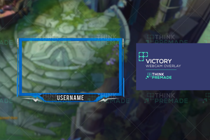 Victory Webcam - Webcam Overlay - Stream Graphics - ThinkPremade