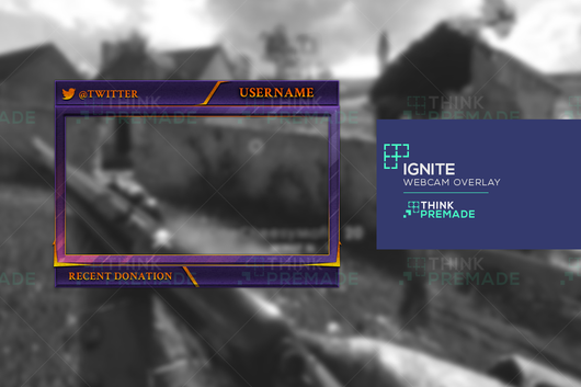 Ignite Webcam - Webcam Overlay - Stream Graphics - ThinkPremade