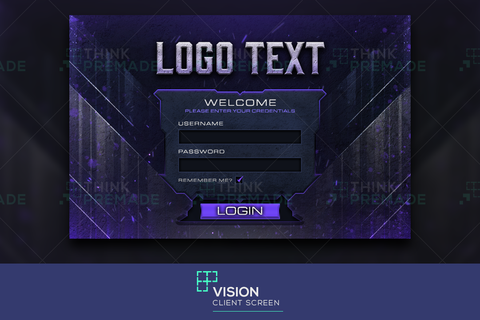 Vision - Client Login Screen - Stream Graphics - ThinkPremade