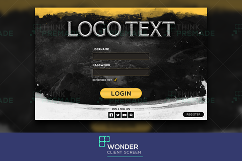 Wonder - Client Login Screen - Stream Graphics - ThinkPremade