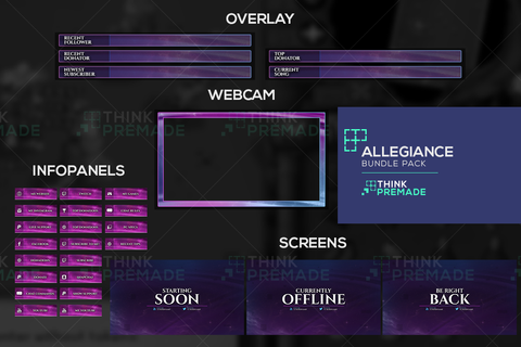 Allegiance Twitch Graphics Bundle Pack Template