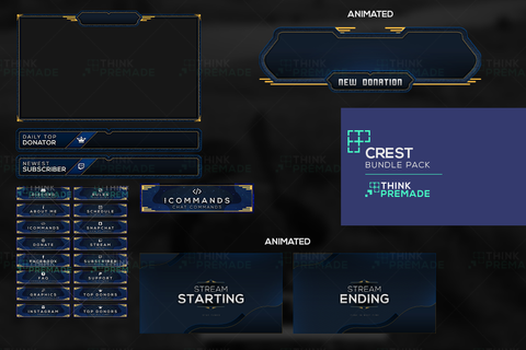 Crest Bundle Pack - Twitch Bundles - Stream Graphics - ThinkPremade