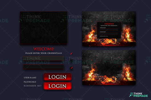Inferno - Client Login Screen - Stream Graphics - ThinkPremade