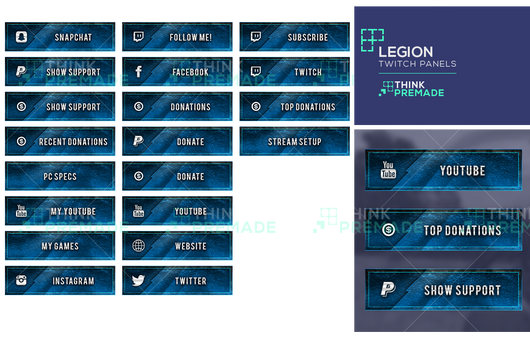 Legion Panels - Twitch Panels - Stream Graphics - ThinkPremade