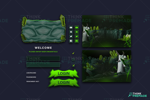 Olm - Client Login Screen - Stream Graphics - ThinkPremade