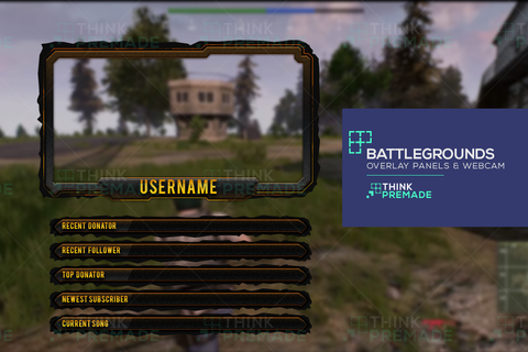 Battlegrounds Overlay - Twitch Overlay - Stream Graphics - ThinkPremade