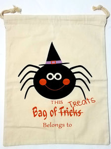 Personalized Halloween Bag - Spider