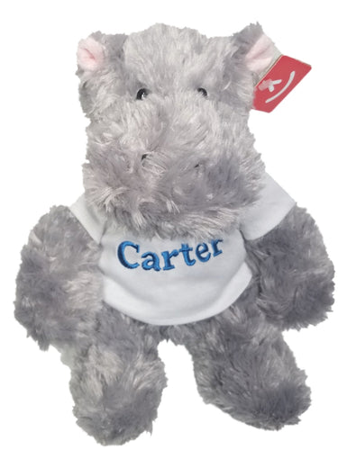 Personalized Plush Hippo